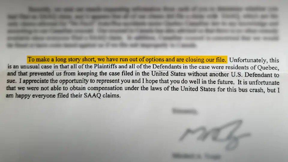 La lettre des avocats américains